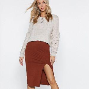 Dresses & Skirts - Side Slit Knit Skirt